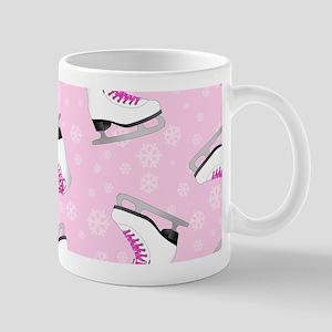 Pink Ice Skating Pattern Mug