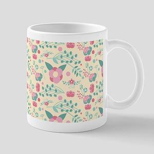 Romantic Pastel Floral Pattern Mug