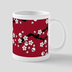 Gothic Cherry Blossoms Pattern Mugs