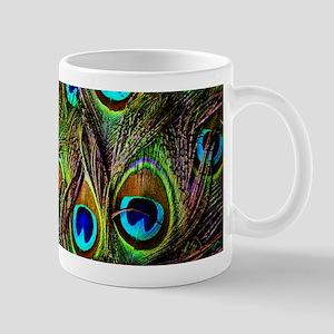 Peacock Feathers Invasion Mug