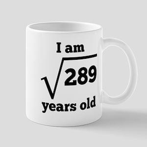 17th Birthday Square Root Mugs