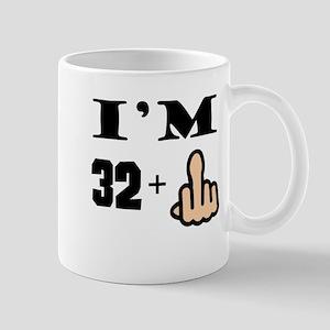 Middle Finger 33rd Birthday Mugs