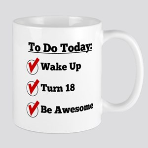 18th Birthday Checklist Mugs