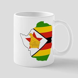 Zimbabwe Flag and Map Mug