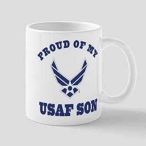 Air Force Son Proud Mom Dad Mugs
