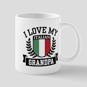 I Love My Italian Grandpa Mug