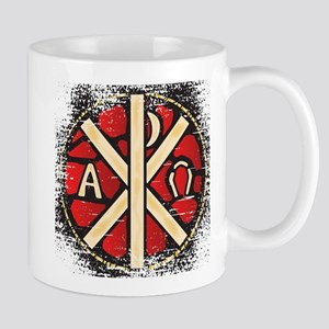 Alpha Omega Stained Glass Mugs