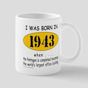 BORN IN 1943 Mug