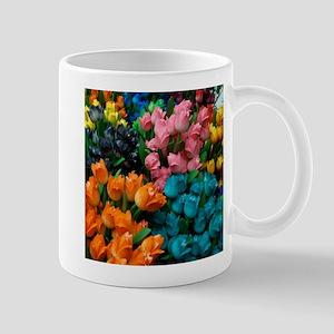 floral amsterdam multi colored tulips Mugs