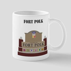 Fort Polk with text Mug