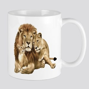 Lion And Cubs Mugs