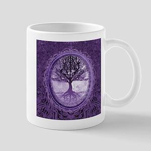 Tree of Life in Purple Mugs