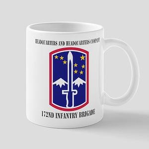 HHC - 172 Infantry Brigade with text Mug