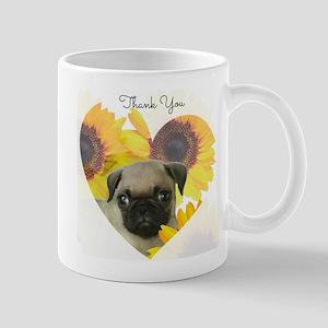 Thank You Pug Dog Mugs