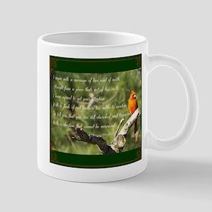 Cardinal Message 11 oz Ceramic Mug