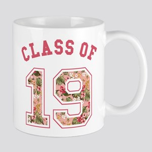 Class of 19 Floral Pink Mugs
