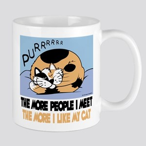 The More People I Meet Cat Mug