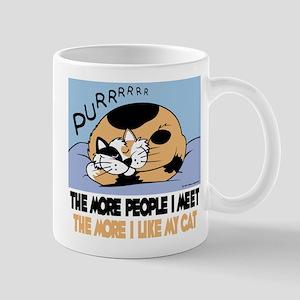 The More People I Meet Cat Mug