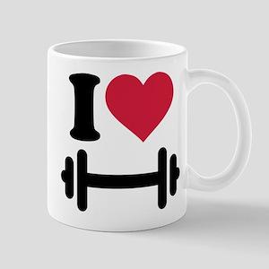 I love barbell dumbbell Mug