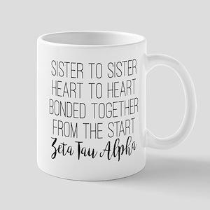 Zeta Tau Alpha ZTA Sorority Sisterhood Mugs