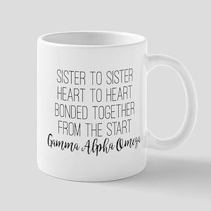 Gamma Alpha Omega Sister to Sist 11 oz Ceramic Mug