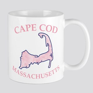 Preppy Pink Cape Cod Massachusetts Mugs