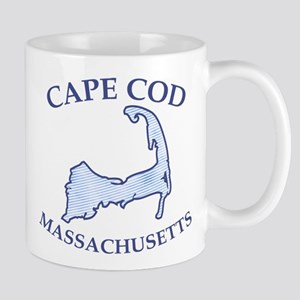 Preppy Vintage Blue Cape Cod Mug