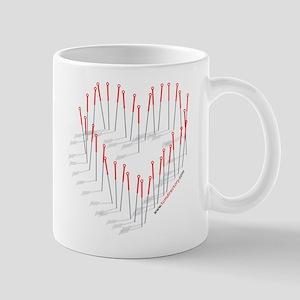 Acupuncture Needle Heart Mug