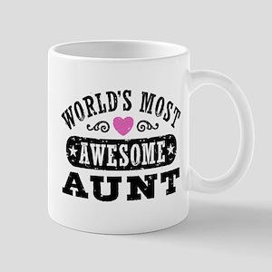 World's Most Awesome Aunt Mug