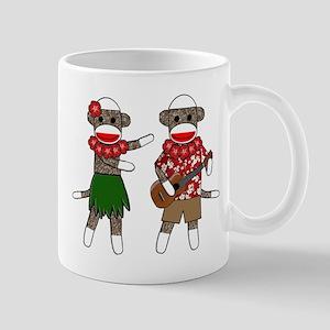 2-sockmonkey_luaucouple01 Mugs