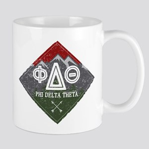 Phi Delta Theta Diamond Mountain 11 oz Ceramic Mug