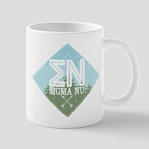 Lambda Phi Epsilon Mountains Blu 11 oz Ceramic Mug