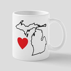 I Love Michigan Mug