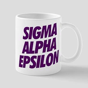 Sigma Alpha Epsilon Slant 11 oz Ceramic Mug