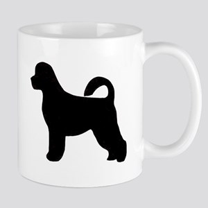 portugese water dog silhouette Mugs
