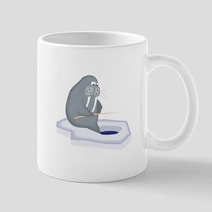 Walrus Fishing Mugs