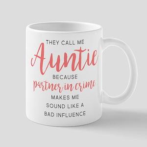 Auntie Partner in Crime 11 oz Ceramic Mug