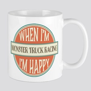 happy monster truck racer Mug