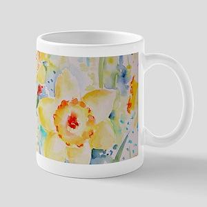 Watercolor yellow flowers daffodils pattern Mugs