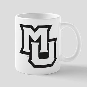 MU Letters Navy Blue 11 oz Ceramic Mug
