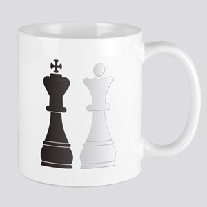 Black king white queen chess pieces Mugs