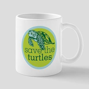 SAVE TURTLES LOGO Mug