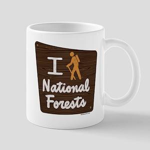 I HIKE NATIONAL FORESTS Mug