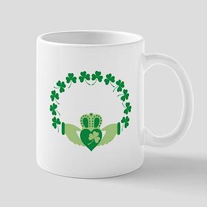 Claddagh Heart Crown Shamrocks Mugs