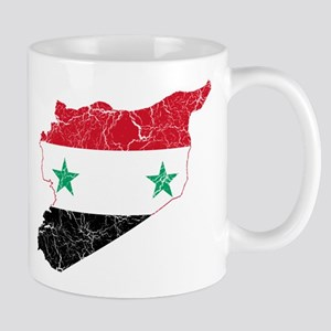 Syria Flag And Map Mug