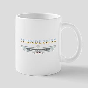 Ford Thunderbird Emblem Orange Chrome Mug