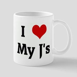 I Love My J's Mug