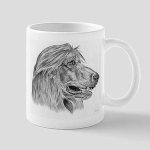 Afghan Hound Pencil Drawing Mug