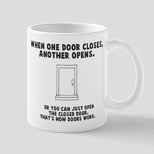 Door Opens Closes Mug
