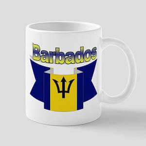 The Barbados flag ribbon Mug